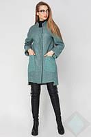 Демисезонное женское пальто из полушерсти Бельгия, оливковый