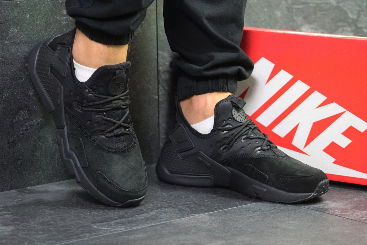 Кросівки чоловічі Nike Huarache стильні класика молодіжні зручні (чорні), ТОП-репліка