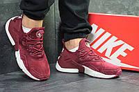 Кроссовки мужские Nike  Huarache стильные топовые осенние замша-пена (бордовые), ТОП-реплика, фото 1