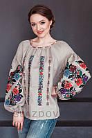 Современные женские вышиванки из льна с вышивкой