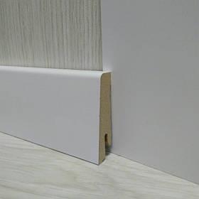 Плінтус МДФ білий підлоговий 19х58х2400мм., Pedross Італія