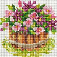 Мозаика на подрамнике Белоснежка Маленький цветник