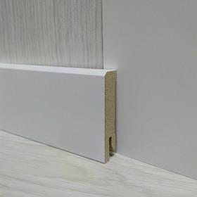 Плинтус МДФ белый напольный 14х60х2400мм., Pedross Италия
