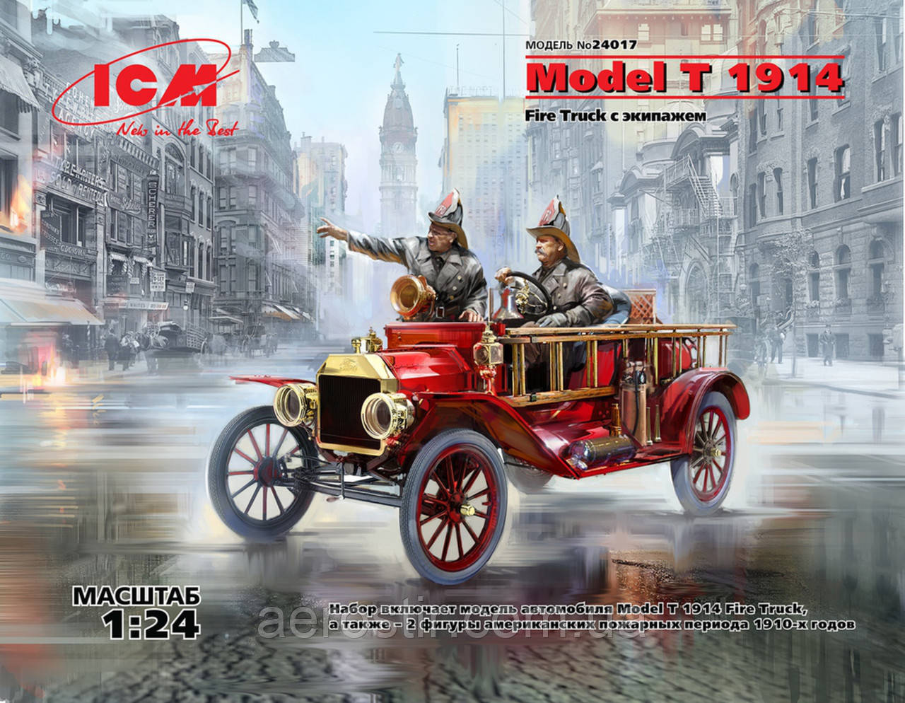 Model T 1914 Fire Truck с экипажем 1/24 ICM 24017