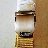 Джинсовый пояс самосброс «NOS» 110-130 см золотистый хаки, фото 10