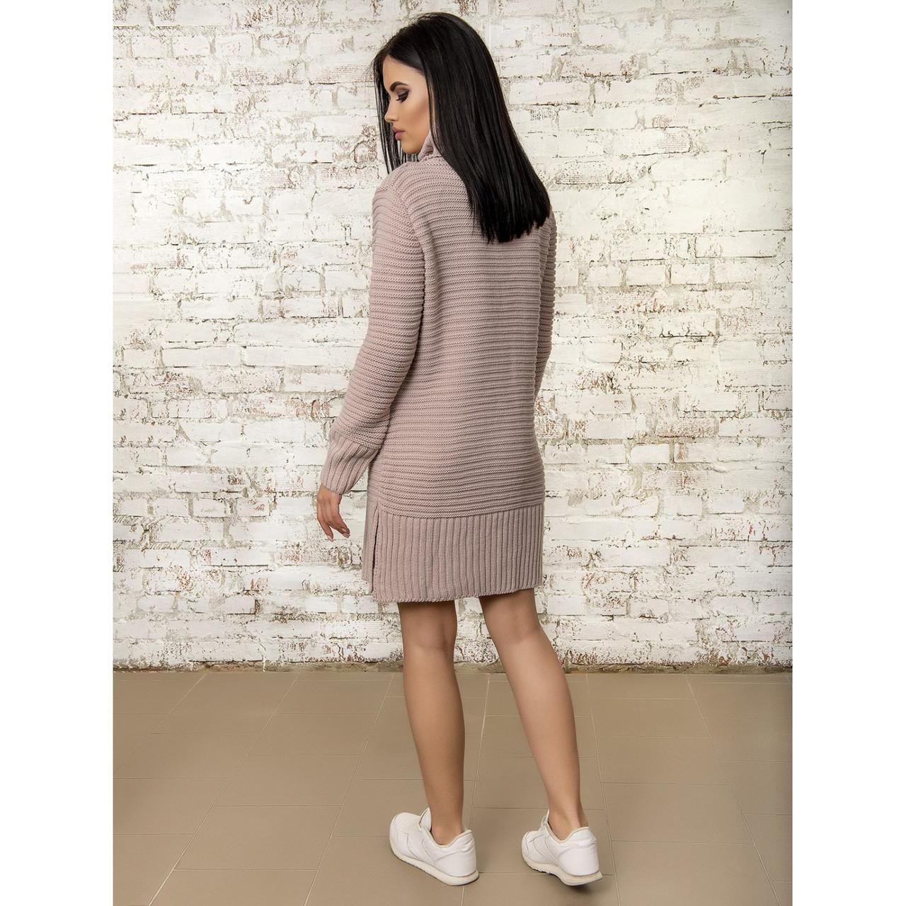 974c528c548 Вязаное теплое платье 46-48 размер 5цветов