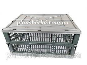 Ящик пластиковый складной 480х350х240 цвет темный, фото 2