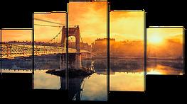 """Модульная картина """"Мост ведущий на рассвет"""""""