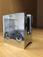 Стеклодержатель литой квадратный под стекло 10 мм и под трубу 38,1 мм
