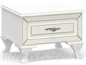 Тумба прикроватная Милан 366x520x453мм  белый   Мебель-Сервис