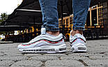 Мужские кроссовки Nike Air Max 97 OG x  Undefeated White. Живое фото (Реплика ААА+), фото 5
