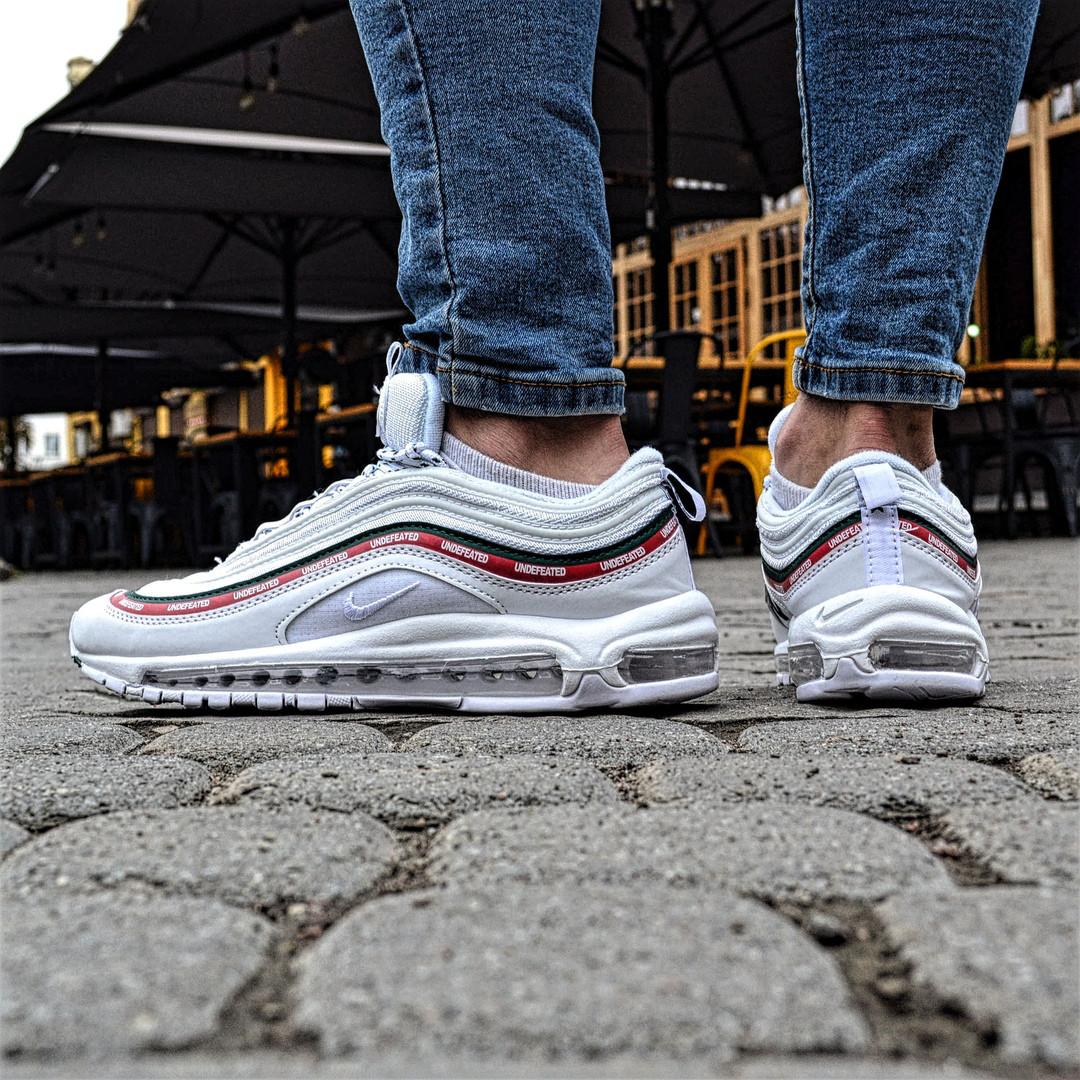 Мужские кроссовки Nike Air Max 97 OG x  Undefeated White. Живое фото (Реплика ААА+)