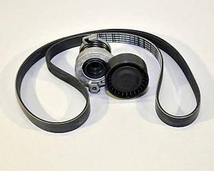 Комплект натяжитель + ремень генератора на Renault Scenic III, 1.5dCi - Renault (Оригинал) - 117202495R