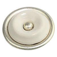 Ручка мебельная Ferro Fiori CR 9120.01 античное серебро. Ceramic