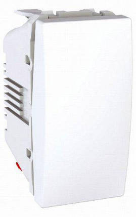 Вимикач 1-кл 1-модуль Unica Білий Schneider Electric, фото 2