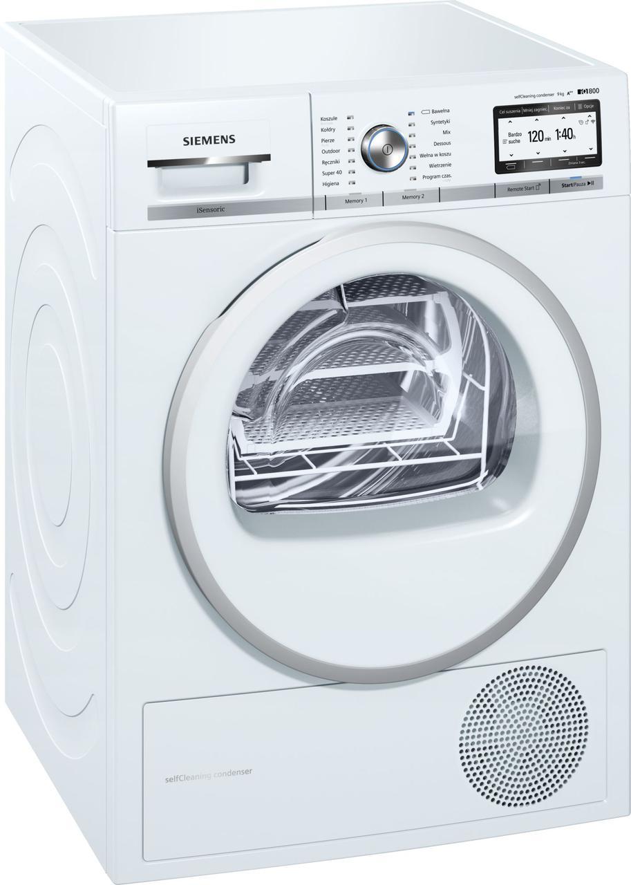 Сушильный автомат с тепловым насосом SIEMENS WT7HY781PL
