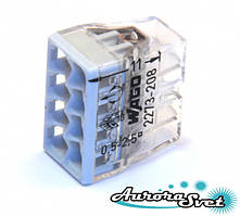 Экспресс-клемма WAGO 2273-248.Наполнена пастой. Для медных проводников, 0,5 - 2,5 мм.кв.,8 пров.
