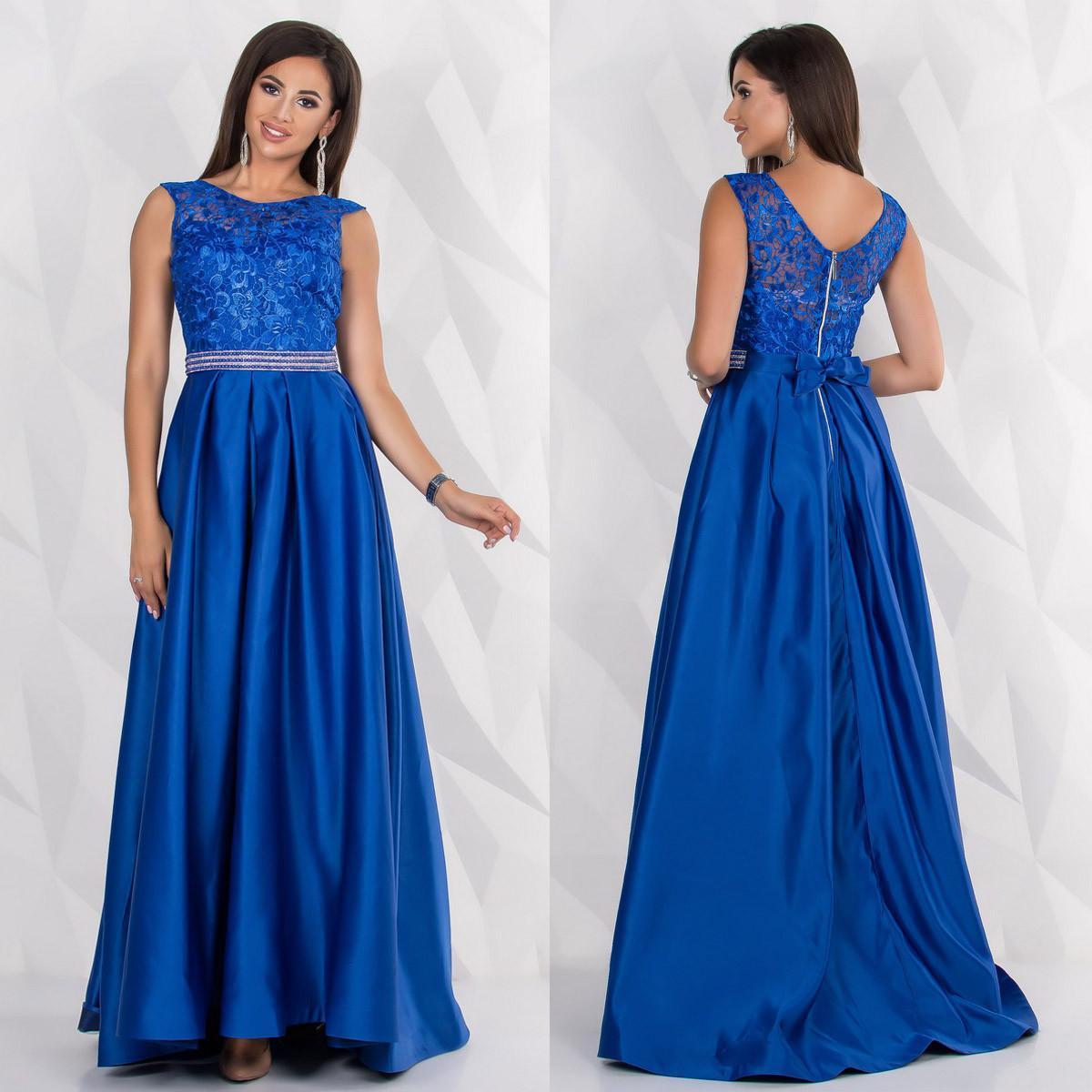 """Элегантное выпускное, вечернее платье со шлейфом размер М """"Миллениум"""""""