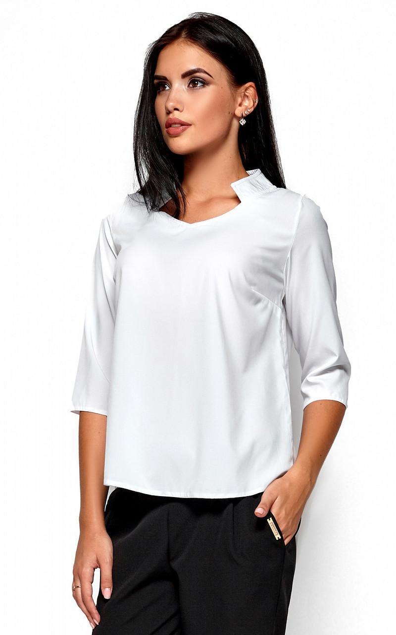 (L / 46-48) Класична стильна біла блузка Malibu