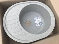 Серая врезная гранитная кухонная мойка (620*500 мм) оборачиваемая AVANTI 620