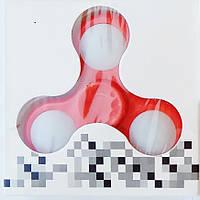 Спиннер пластиковый, светодиодный, светящийся, красный, фото 1