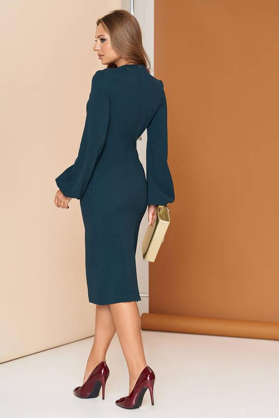 Платье футляр с широким рукавом 44-54р зеленое, фото 2