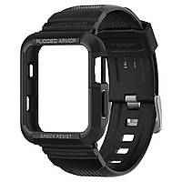Чехол и ремешок Spigen для Apple Watch Rugged Armor Pro 2 in 1 (38mm), Black (058CS22407)