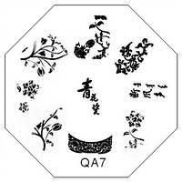 Диск-трафарет для стемпинга QA07