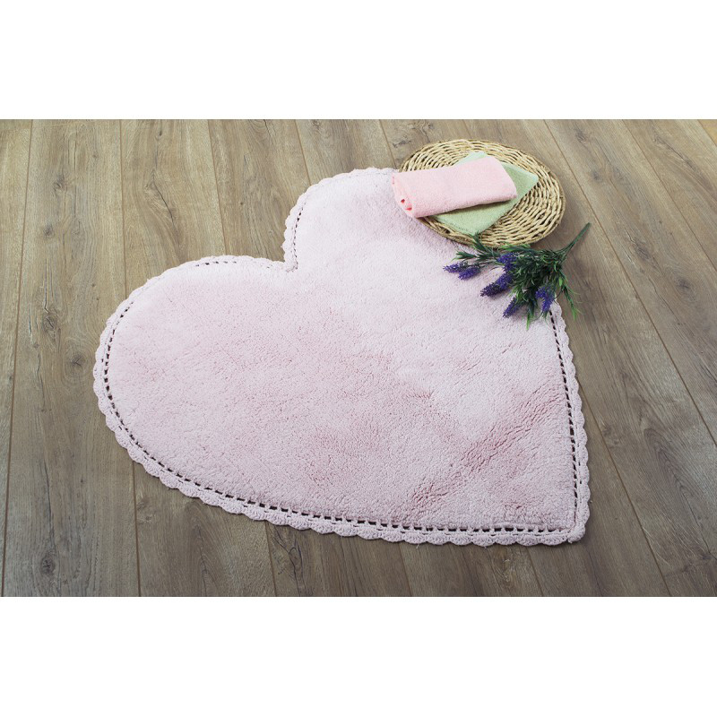Коврик Irya - Amor pembe розовый 80*80 см