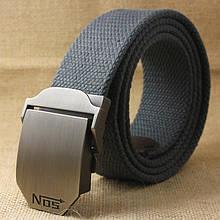 Джинсовый пояс самосброс «NOS» 110-130 см серый