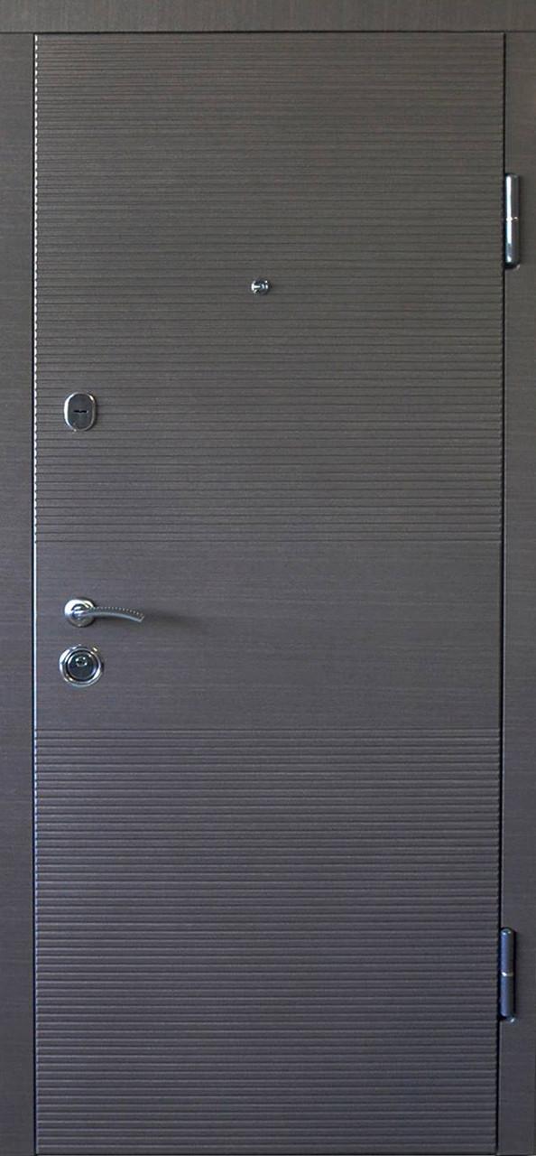 Дверь входная ПО-3K-168 Венге Серый горизонт