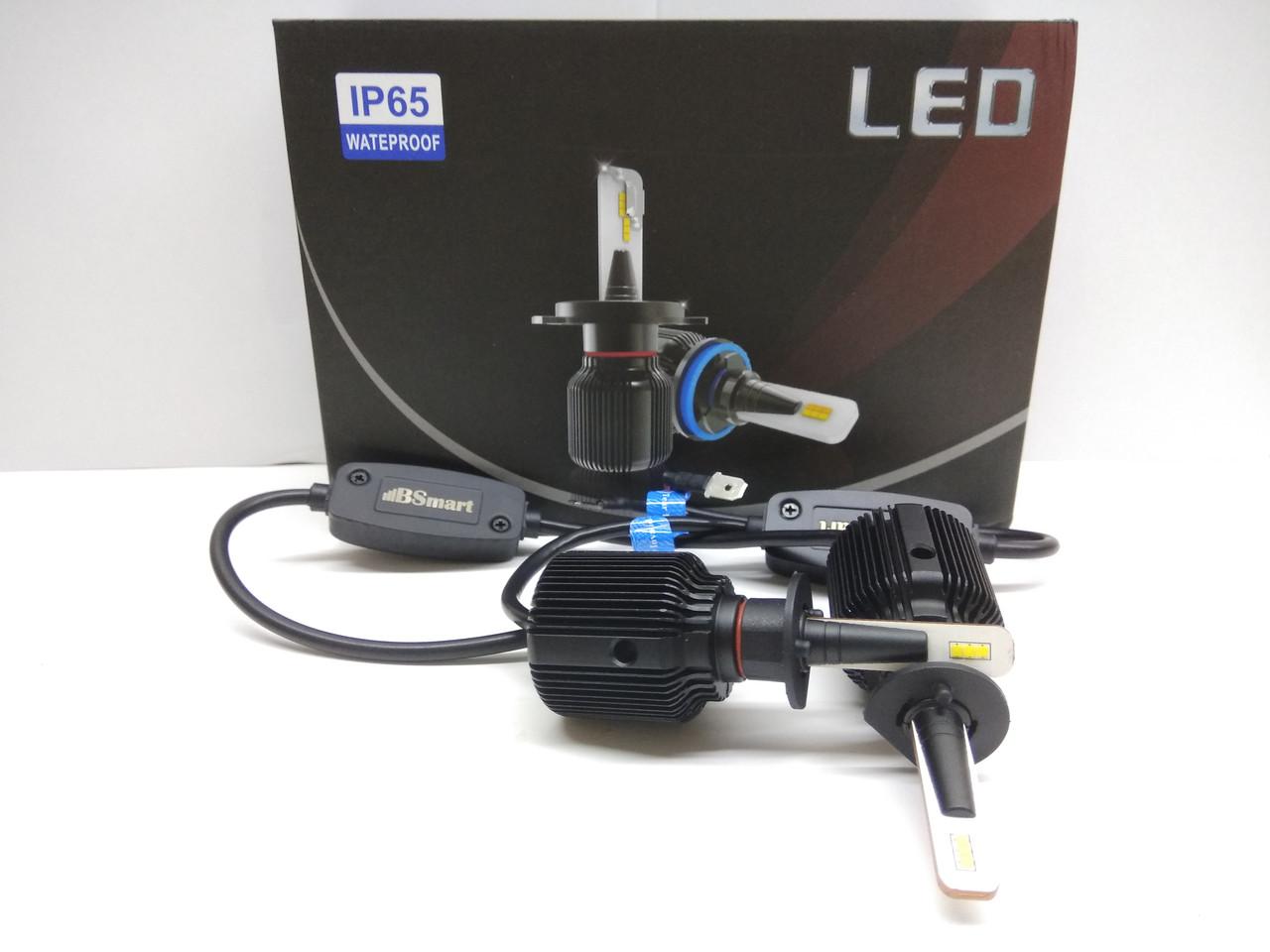 LED светодиодные авто лампы M1 CSP Южная Корея, H1, 8000 Люмен, 40Вт, 9-32В