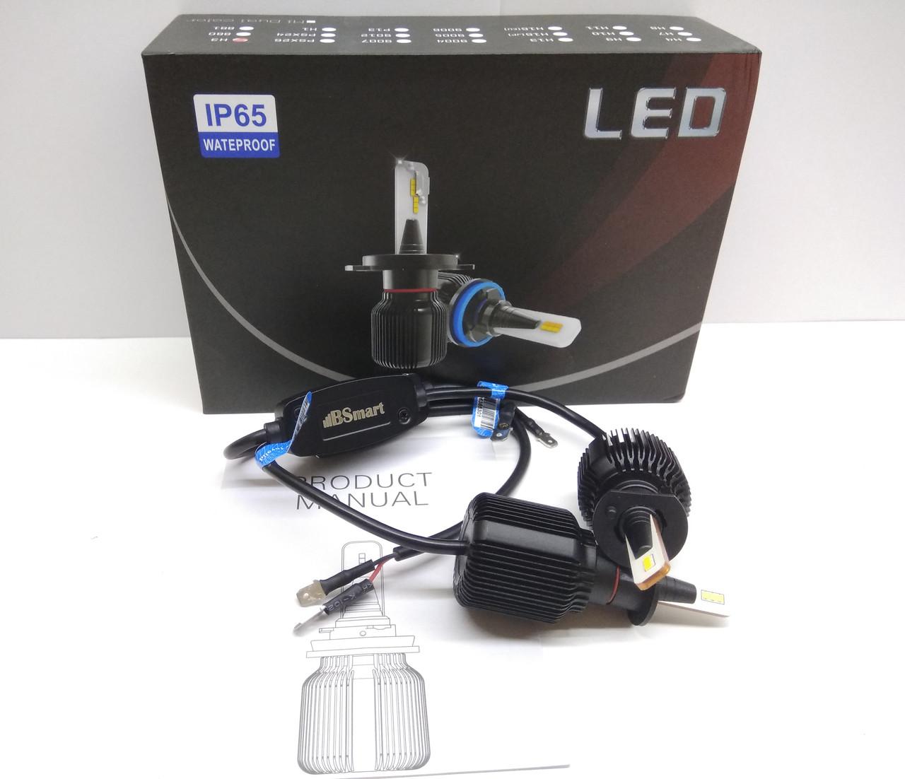 LED светодиодные авто лампы M1 CSP Южная Корея, H3, 8000 Люмен, 40Вт, 9-32В