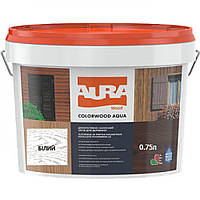 Aura Colorwood Aqua 0,75 л, белая - Водоразбавимый состав (ДЗС) на основе алкидной смолы с антисептиком