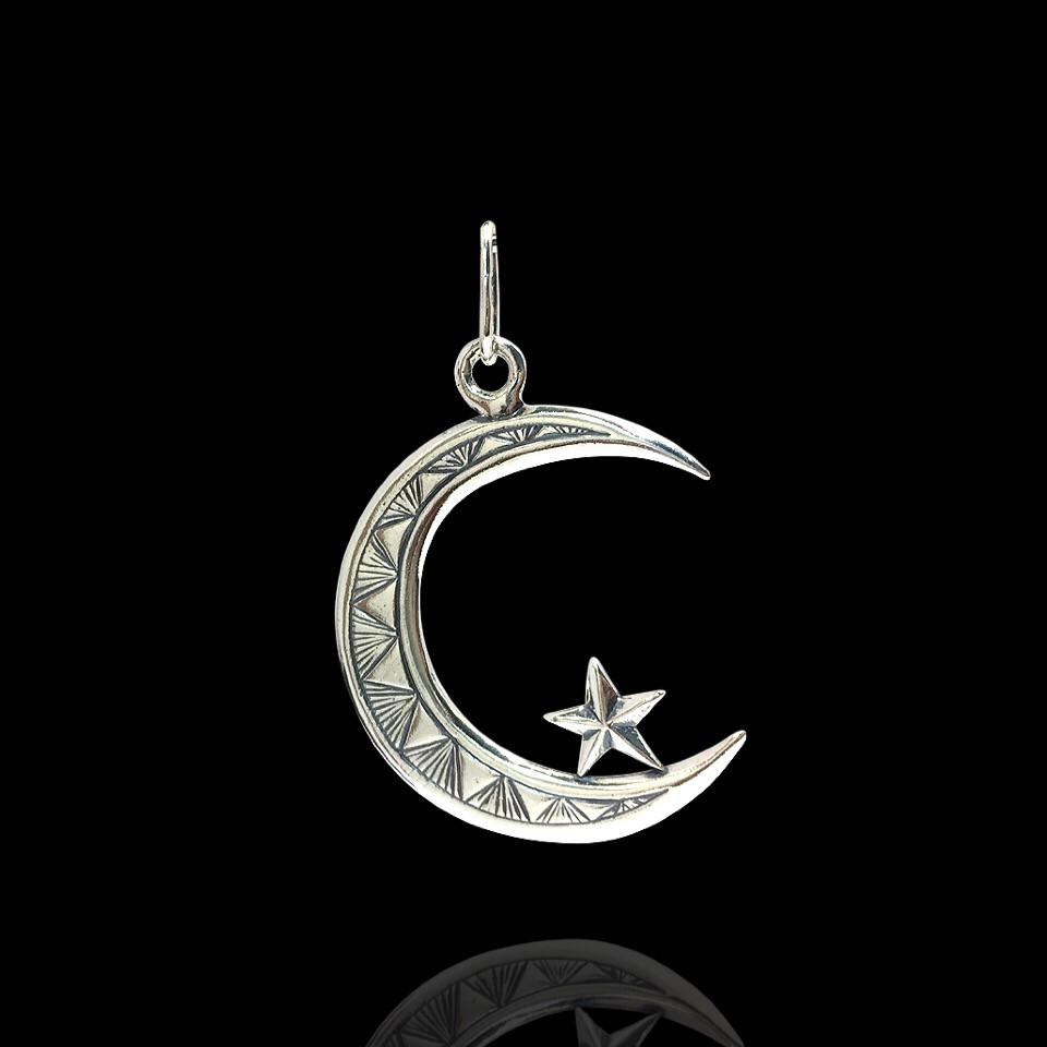 Срібна підвіска Мусульманський півмісяць