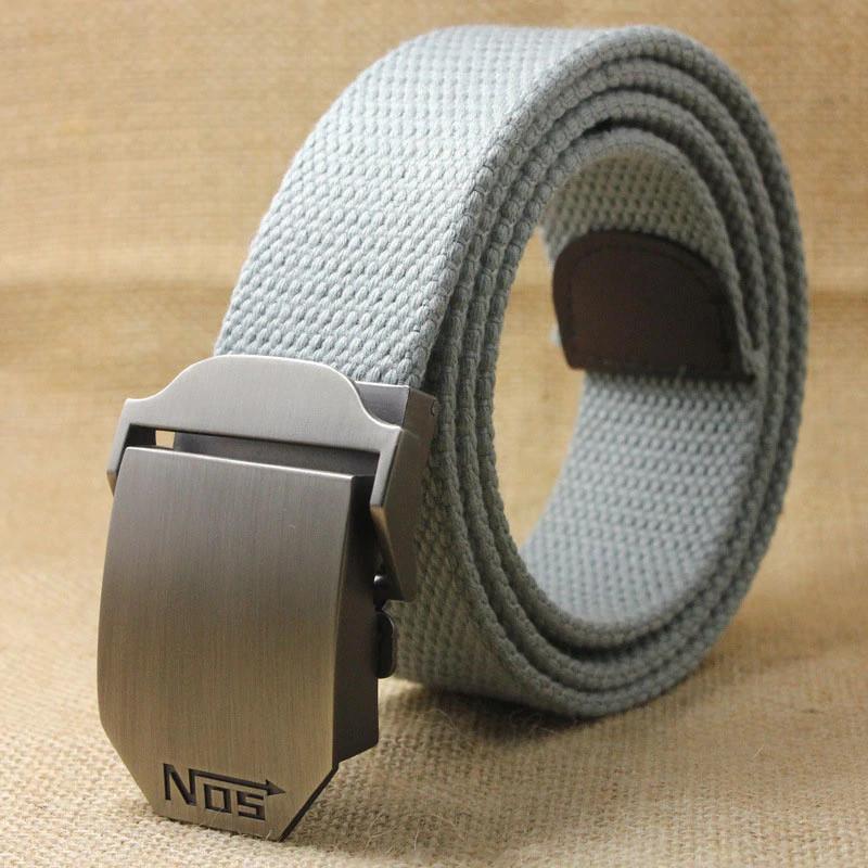 Джинсовый пояс самосброс «NOS» 110-130 см светло-серый
