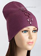 Удлиненная шапка-колпак Холли цвет слива