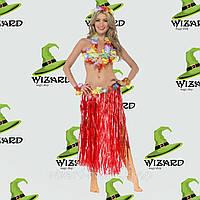Карнавальный костюм гавайский красный