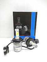 Комплект лед диодных автоламп S2 COB, H4, 8000LM, 72W, 12-24V