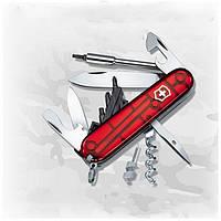 Нож Victorinox CyberTool 34 Red Trans 1.7725.Т красный, 16 функций