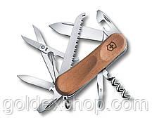Нож Складной Мультитул Викторинокс Victorinox EVOWOOD 17 (85мм, 13 функций), дерево 2.3911.63