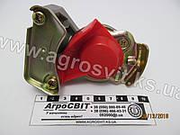 Евроразъем пневматики М16х1,5 (красный, без клапана), каталожный № 02.050.7108.100