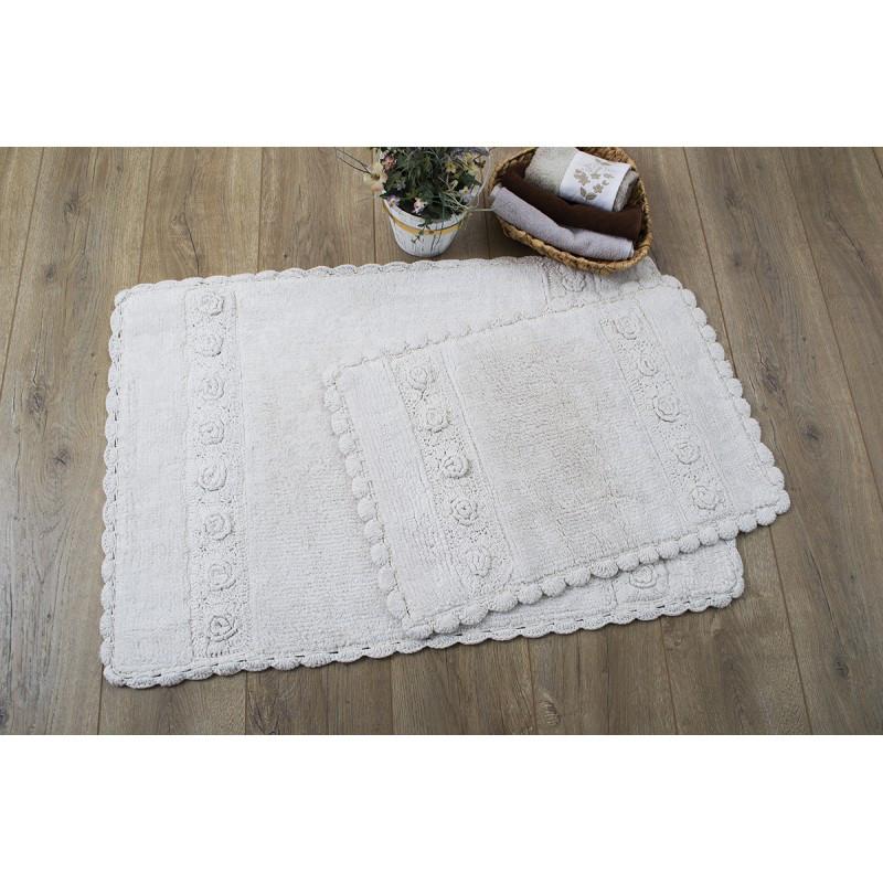 Набор ковриков Irya - Waltz bej бежевый 60*90+40*60 см