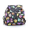 Рюкзак Y005 №1 черный (цветные слоны)