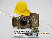 Евроразъем пневматики М16х1,5 (желтый, с клапаном), каталожный № 02.050.7104.100