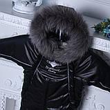 Зимний комбинезон-трансформер Снежинка, черный, фото 5
