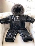 Зимний комбинезон-трансформер Снежинка, черный, фото 6