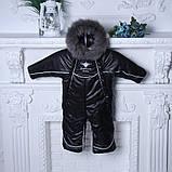 Зимний комбинезон-трансформер Снежинка, черный, фото 4