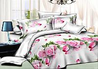 Комплект постельного белья (10131) двуспальное евро 200*220 хлопок TM KRISPOL Украина