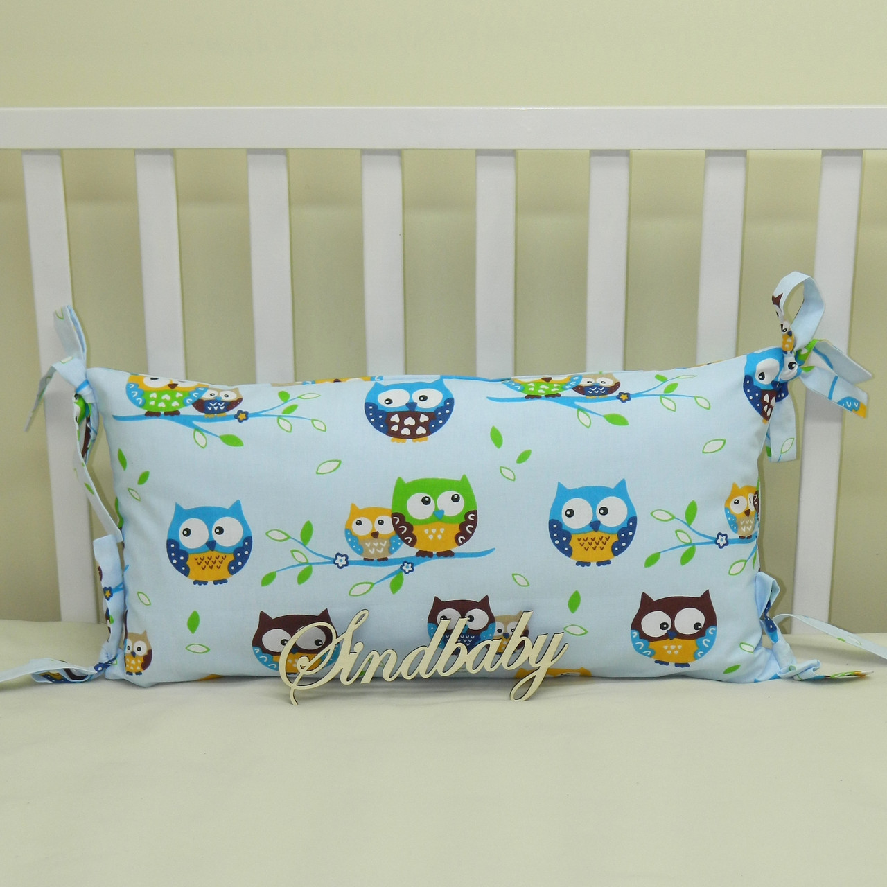 Бортики подушки в кроватку, Подушка 30х60 -15